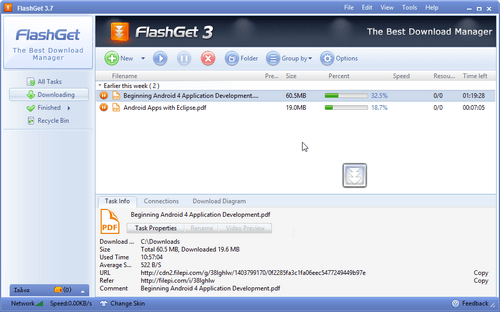 Tải Flashget 3.7 - Phần mềm tăng tốc độ download 2020