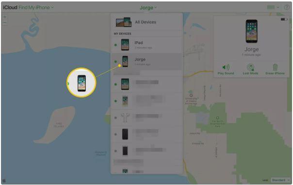 Cách tìm iphone bị mất bằng Icloud với chức năng Find My Iphone