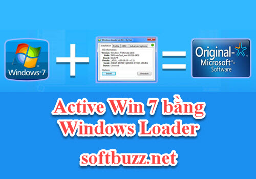 Cách active Win 7 bằng Windows Loader 2.2.2 Google drive