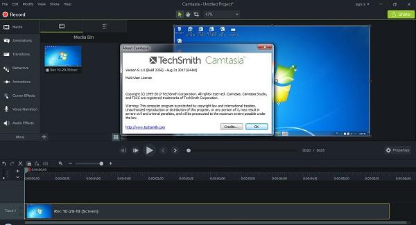 Tải phần mềm Camtasia Studio 9 full - Phần mềm quay màn hình máy tính tốt nhất 2019 1