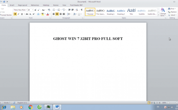 【Download】Tải Ghost win 7 32bit Bản Chuẩn Đã Cài Full Soft