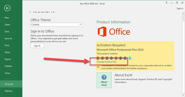 Share Product Key Office 2016 Professional Plus 64bit mới nhất 2019 2