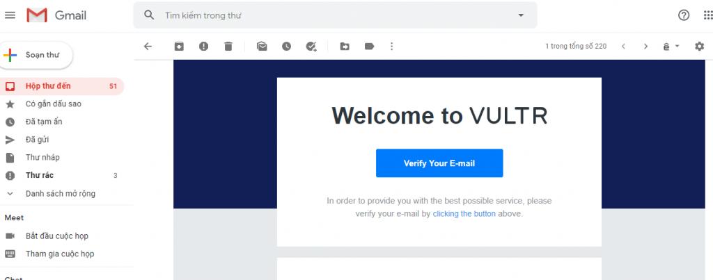 Tạo tài khoản Vultr