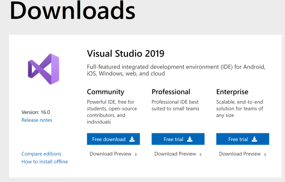 【Download】Visual Studio 2019 full key Google Drive miễn phí