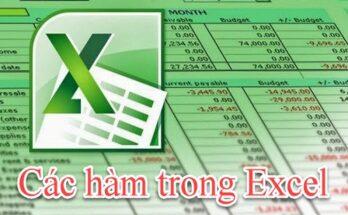 Tổng hợp các hàm trong Excel dành cho dân văn phòng