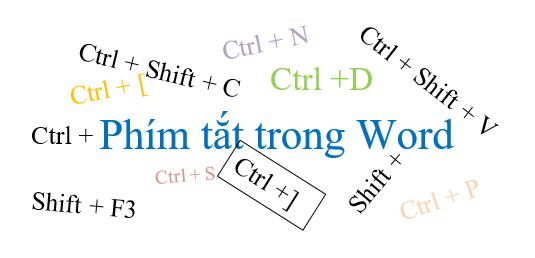 [Share] Tổng hợp các phím tắt trong Word 2010, 2013, 2016