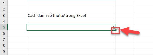 5 Cách đánh số thứ tự trong Excel 2010 đơn giản nhất