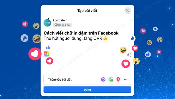 Hướng dẫn cách viết chữ in đậm trên Facebook đơn giản nhất 2020