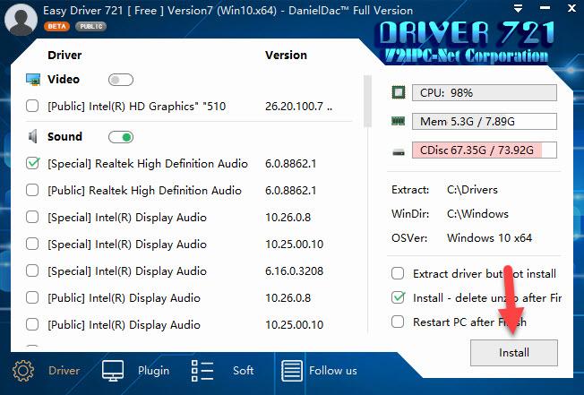 Tải WanDriver 7.20 mới nhất 2021- cài driver tự động cho Win